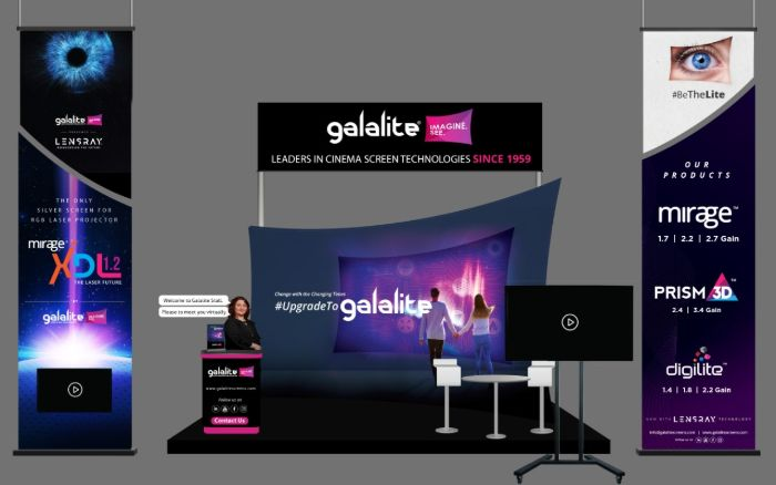 Galalite screens virtual expo stall at CineEurope